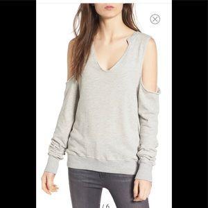 New! PAM & GELA sweatshirt thumbholes M gray